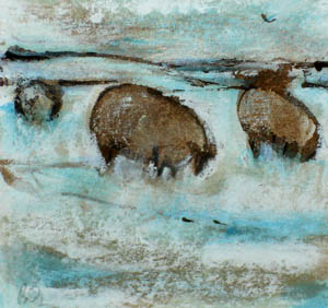 Title: Winter Sheep